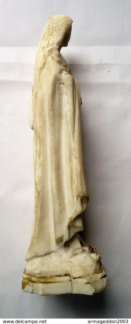 ANCIENNE SCULPTURE PLATRE RELIGIEUSE LA VIERGE SCULPTEUR SITERE SACCI / BAMAINO - Sculptures
