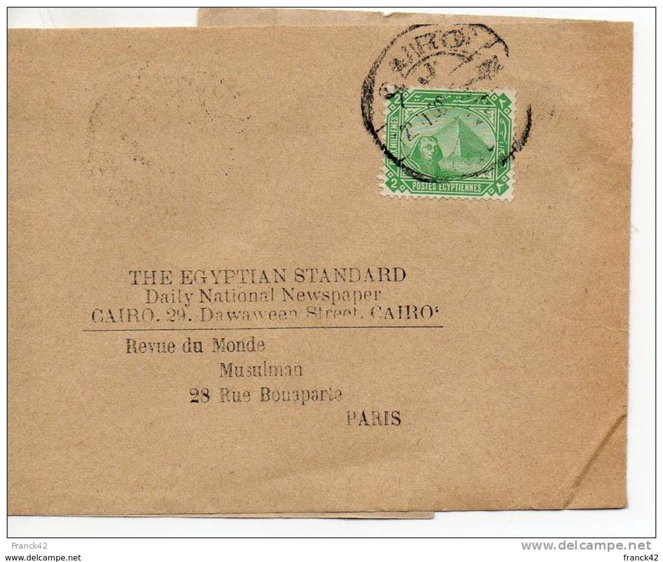 Egypte. Bande Journal  The Egyptian Standard/ Revue Du Monde Musulman - Égypte
