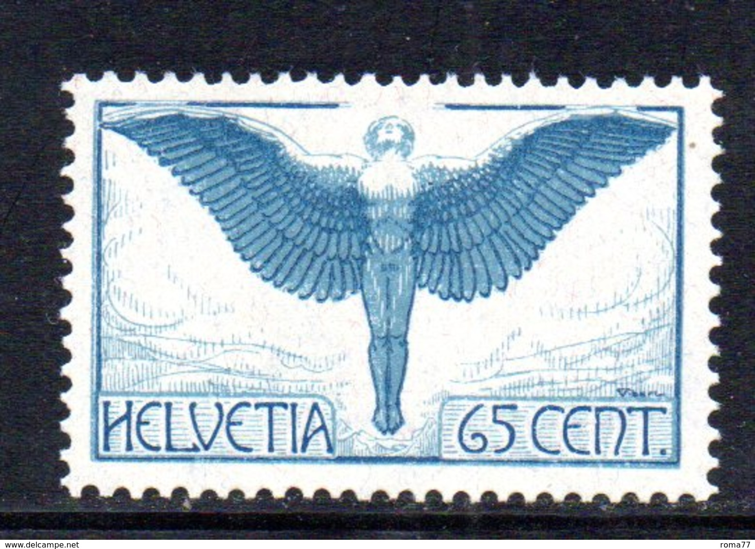 350/1500 - SVIZZERA 1924 , Posta Aerea   Unificato N. 10a  ***  MNH  Carta Ordinaria - Posta Aerea