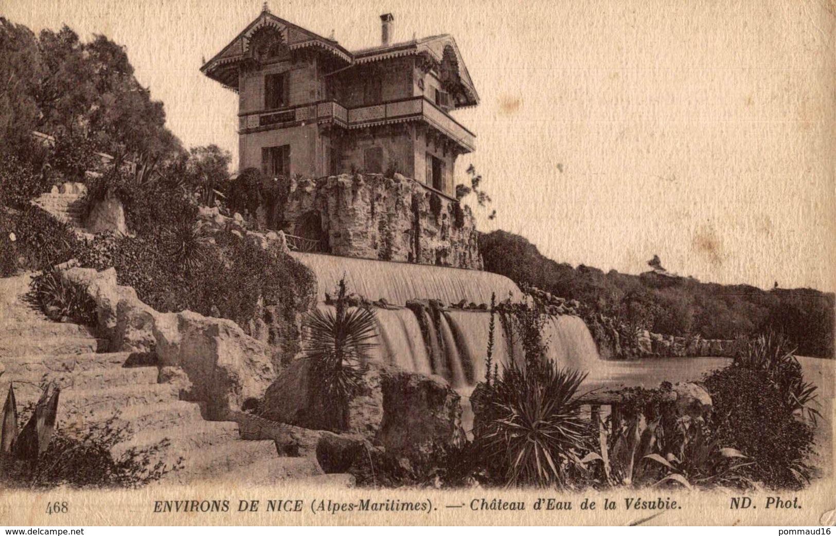 CPA Environs De Nice Château D'eau De La Vésubie - Châteaux D'eau & éoliennes