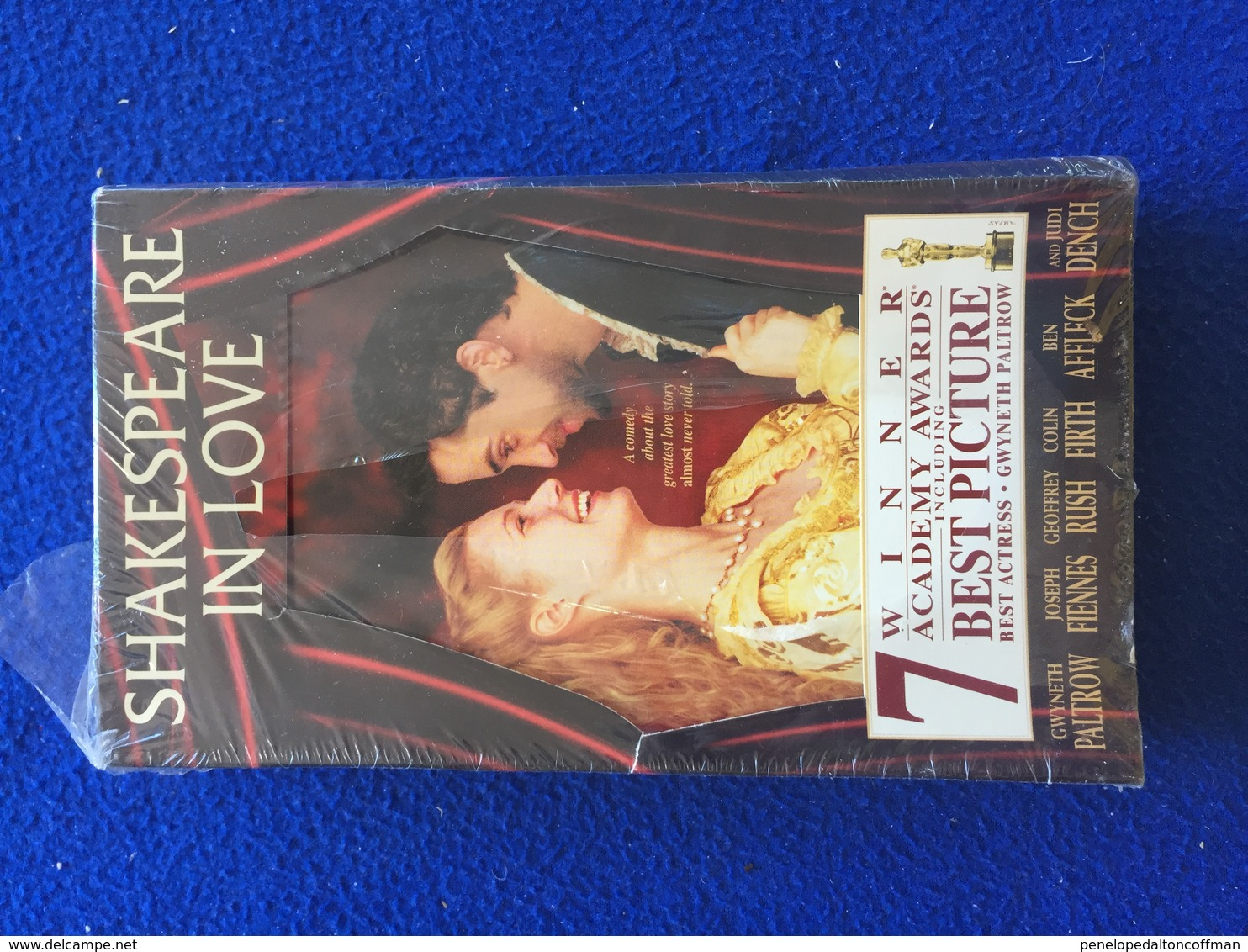 """VHS: """"Shakespeare In Love"""" With Gwyneth Paltrow , Joseph Fiennes, Geoffrey Rush And Colin  Firth, New In Shrink Wrap - Romantic"""