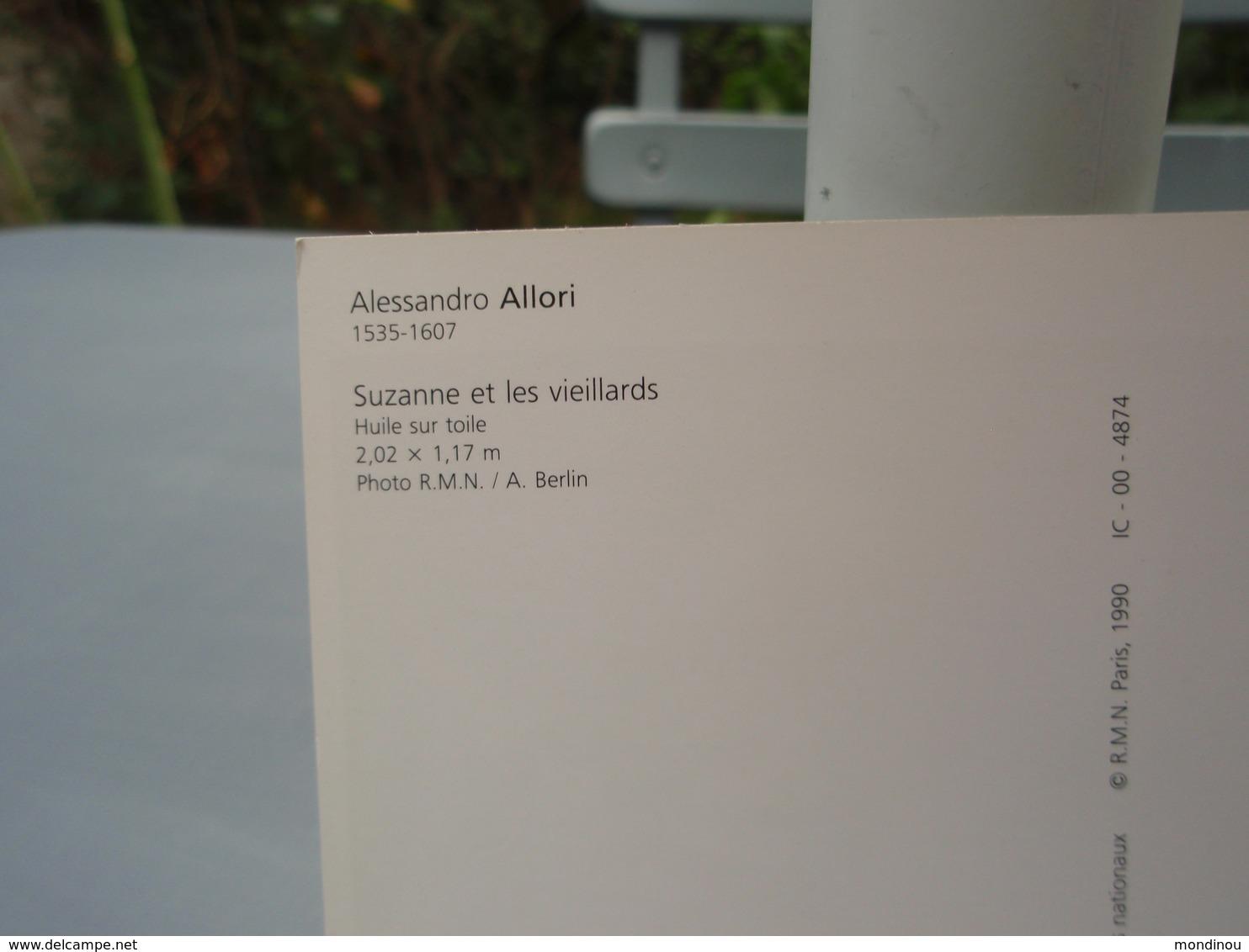 Suzanne Et Les Vieillards Alessandro ALLORI. Très Belle Carte - Tableaux