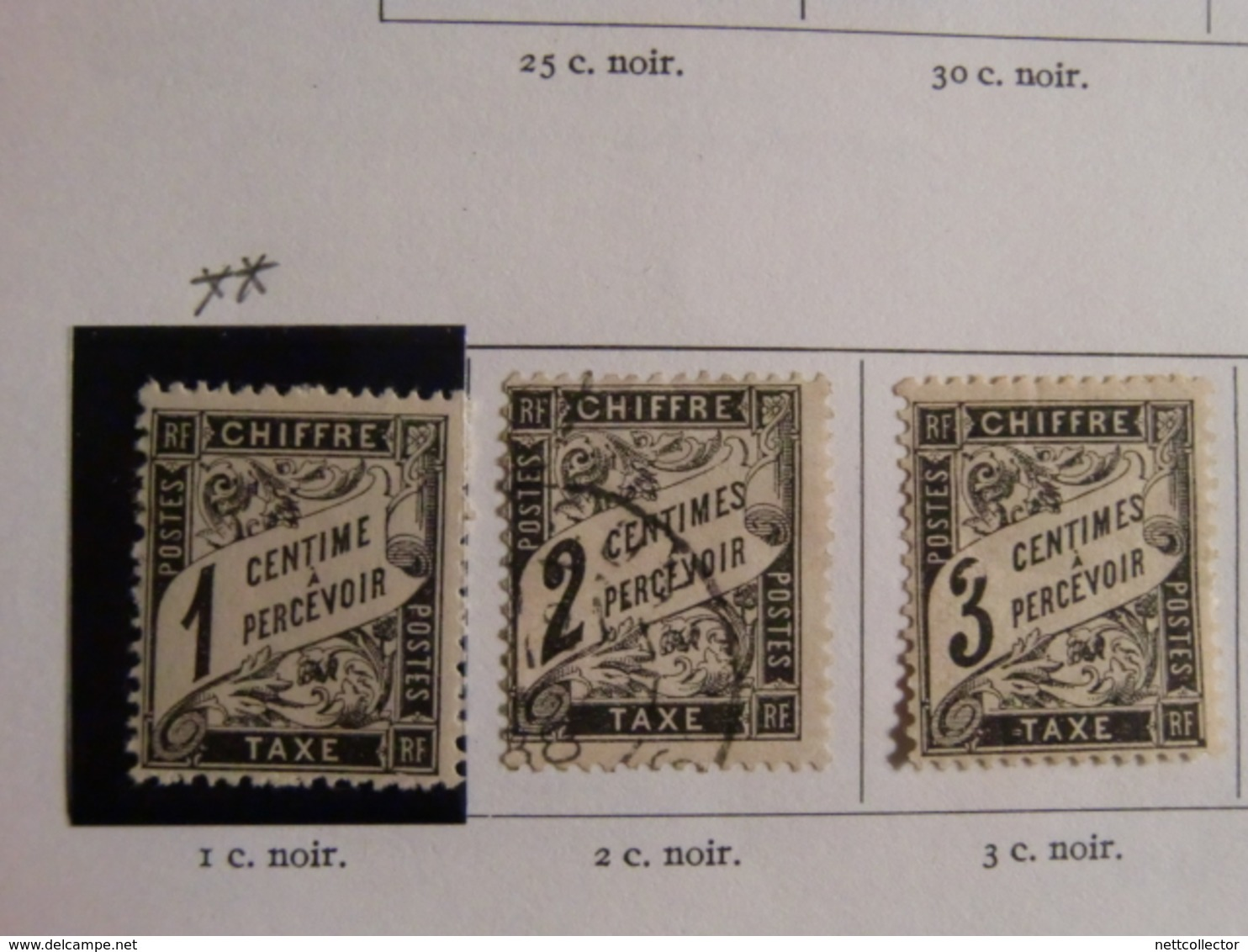 RARE COLLECTION TIMBRES TAXES Entre 1859 & 1983 NEUFS Et OBLITERES - Taxes