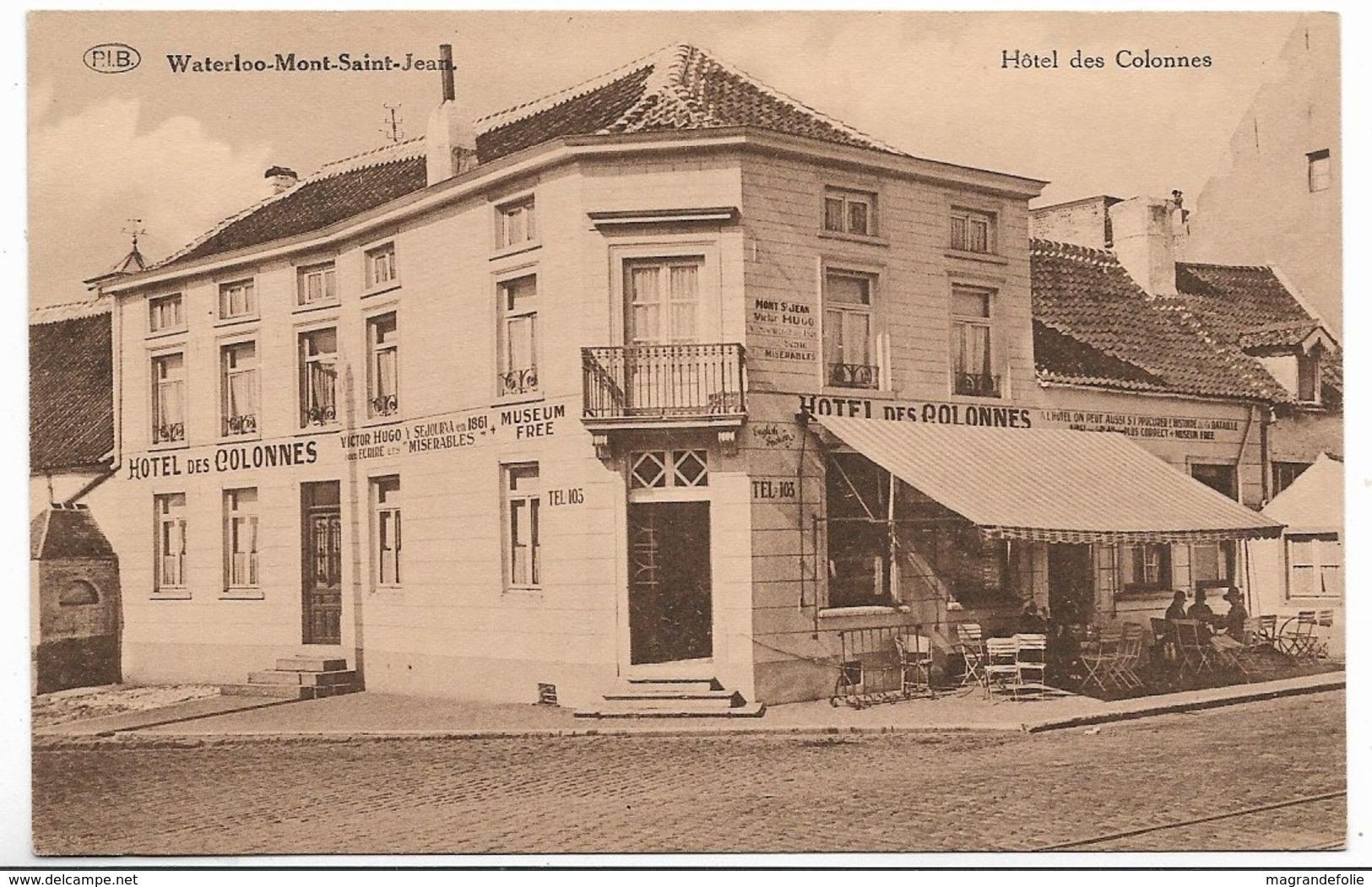 CPA PK  WATERLOO MONT SAINT JEAN  HOTEL DES COLONNES - Belgique