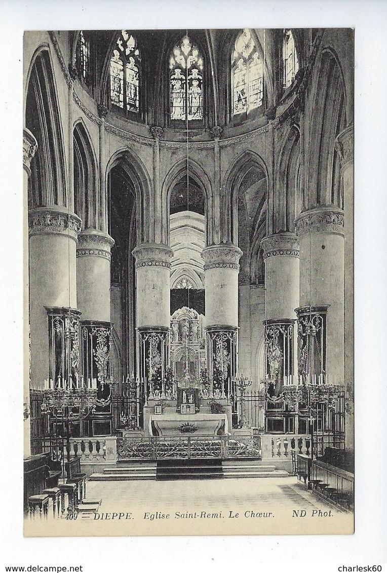 CPA Dieppe Église Saint Rémi Le Choeur 409 - Dieppe