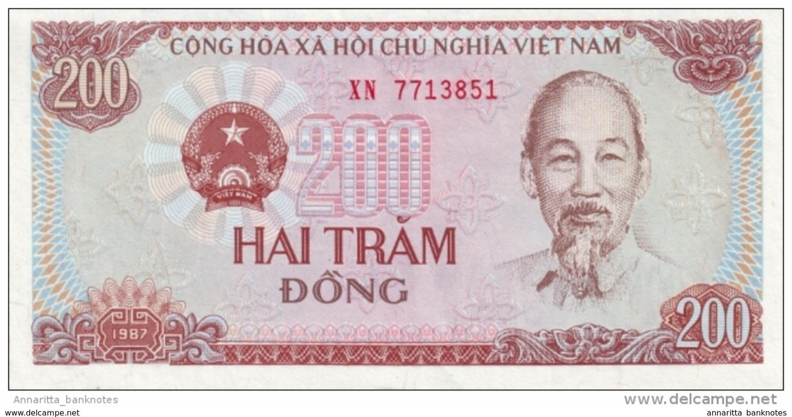 VIETNAM 200 DONG 1987 P-100a NEUF PETIT S/N [VN328a] - Vietnam