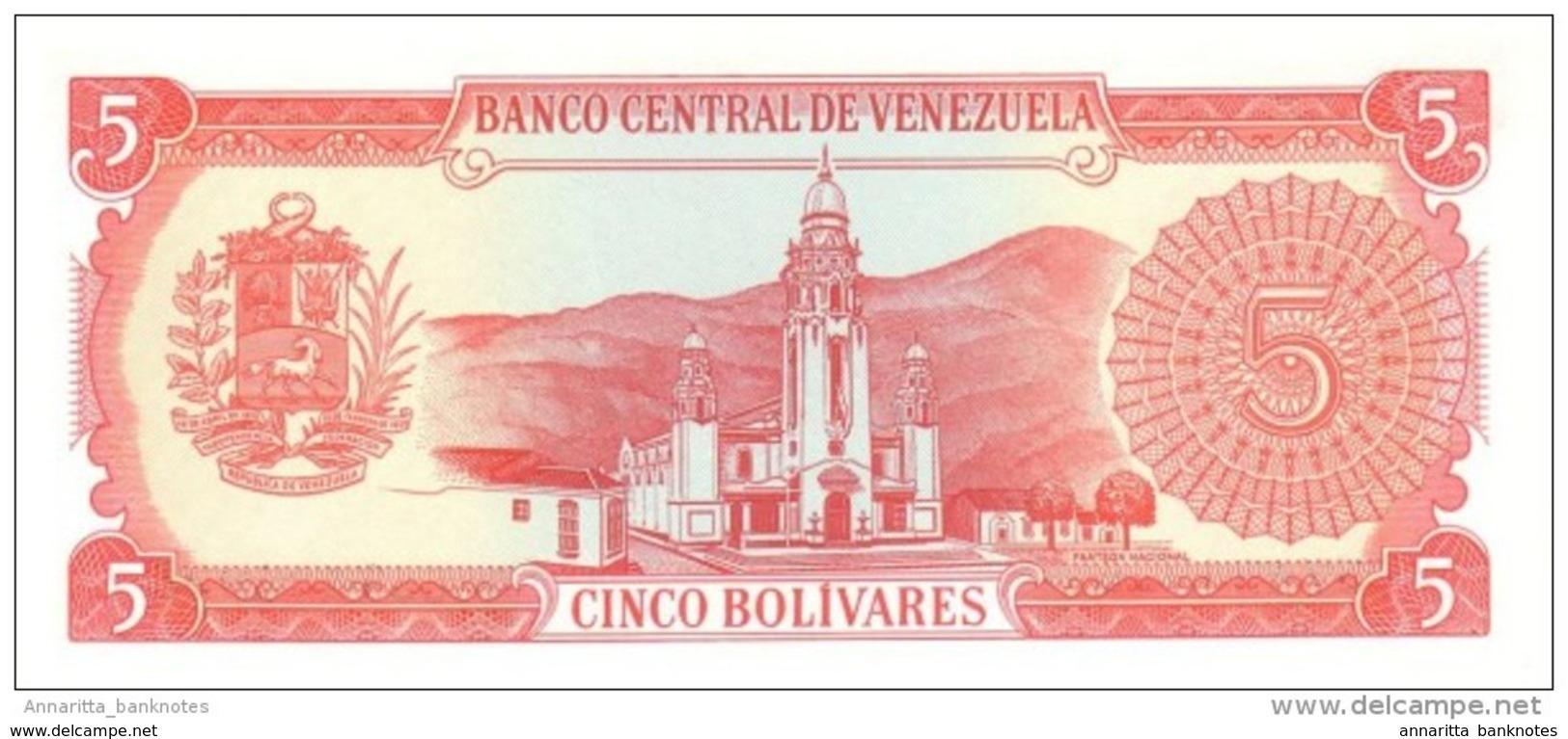 VENEZUELA 5 BOLIVARES 1989 P-70b NEUF 8 CHIFFRE S/N [ VE070b ] - Venezuela