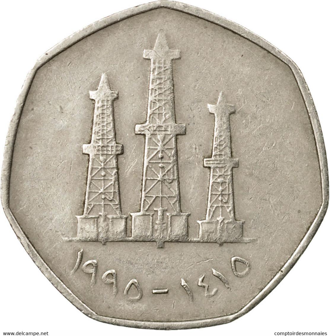 Monnaie, United Arab Emirates, 50 Fils, 1995/AH1415, British Royal Mint, TTB - Emirats Arabes Unis