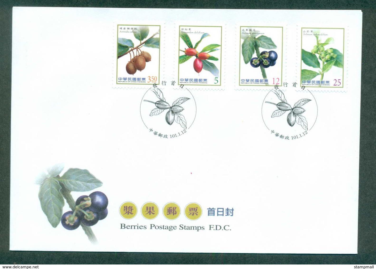 China ROC Taiwan 2012 Berries FDC Lot62125 - Taiwán (Formosa)