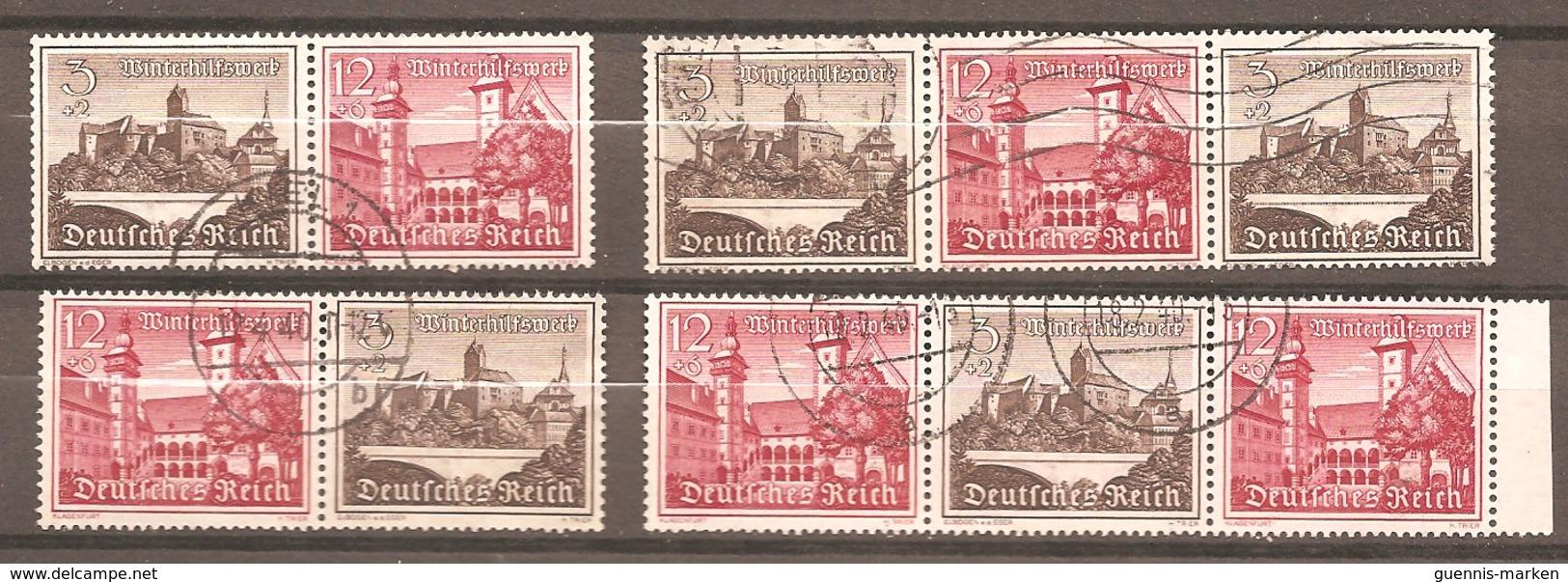 ZDR W 144 - W 147 - Gestempelt - Zusammendrucke