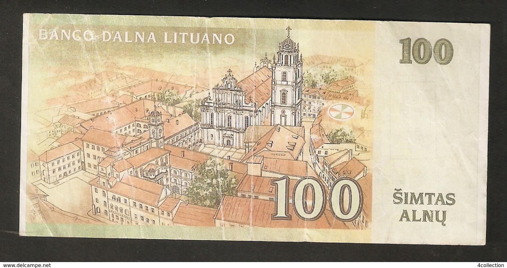 T. Lithuania Banco D'Alna Lituano 100 Simtas Alnu Darento Al Ziezone AD1034509 - Litauen