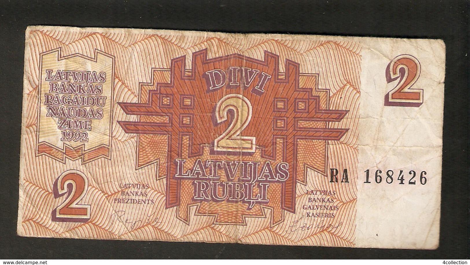 T. Latvia 2 Rubel Rubli Roubles 1992 Ser. RA 168426 - Latvia