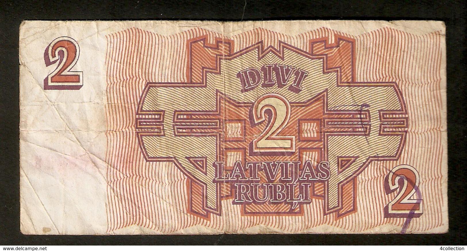 T. Latvia 2 Rubel Rubli Roubles 1992 Ser. RA 168426 - Lettonie