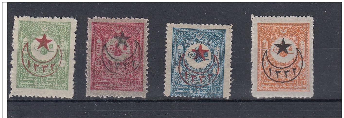 Türkei (AK) Michel Cat.no.   Vlh/*  399/402 - 1858-1921 Empire Ottoman