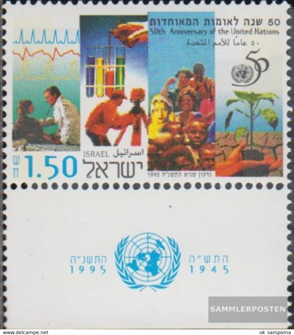 Israel 1327 With Tab (complete Issue) Unmounted Mint / Never Hinged 1995 50 Years UN - Israel