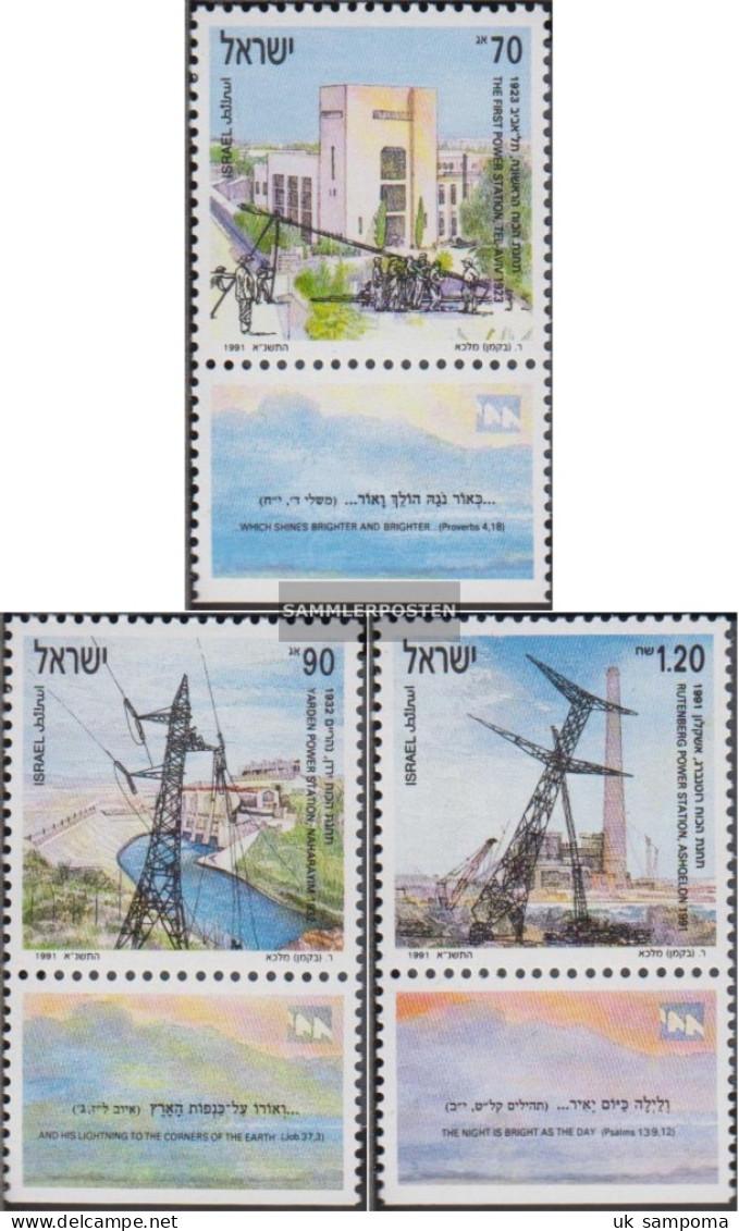 Israel 1192-1194 With Tab (complete Issue) Unmounted Mint / Never Hinged 1991 Elektrizitätserzeugung - Unused Stamps (with Tabs)