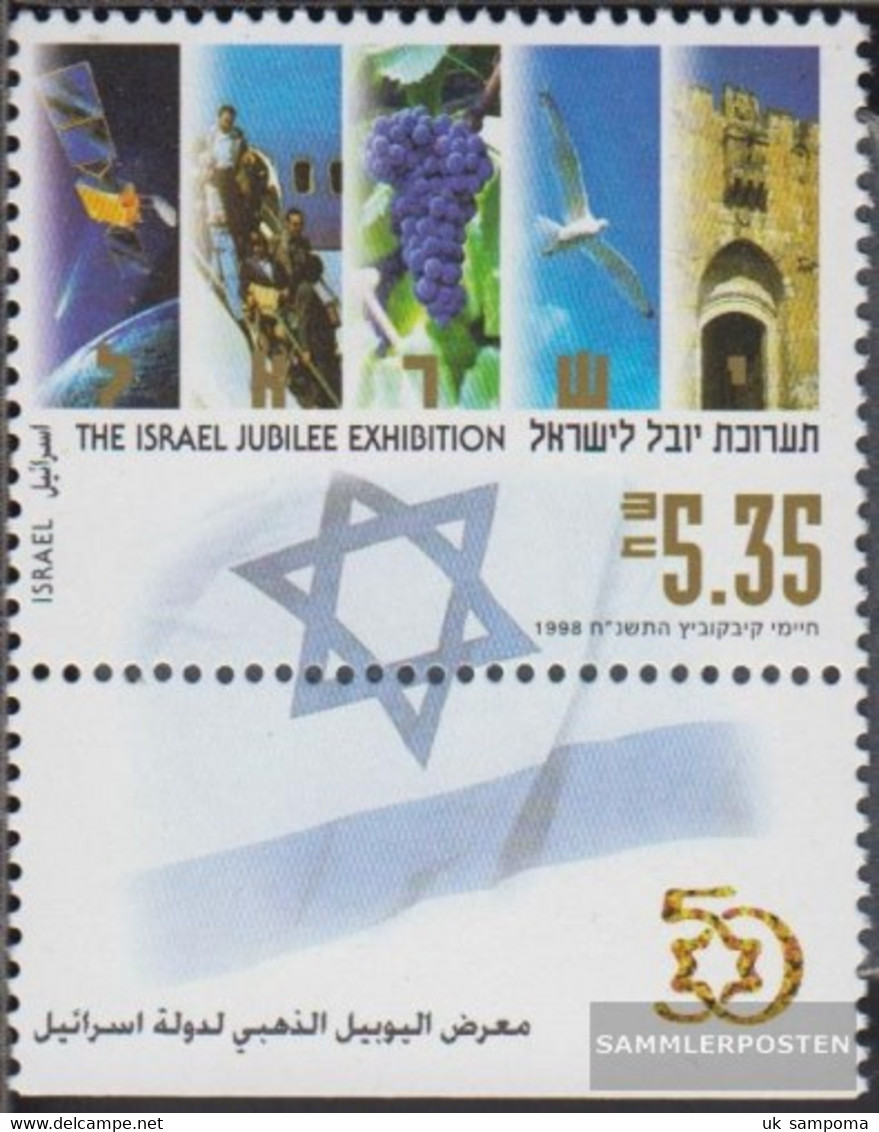 Israel 1486 With Tab (complete Issue) Unmounted Mint / Never Hinged 1998 Anniversary Exhibition - Unused Stamps (with Tabs)