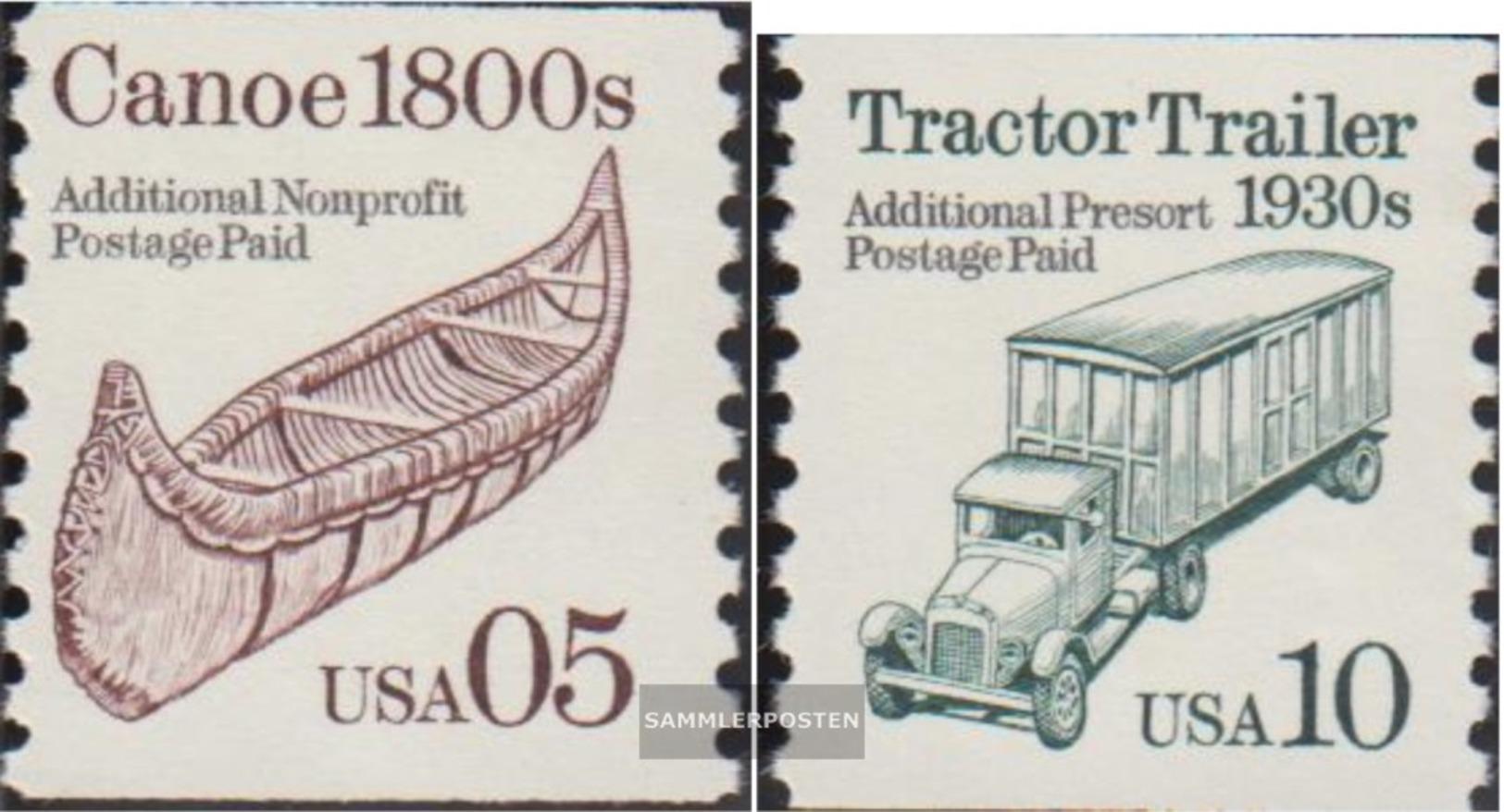 USA 2137-2138 (completa Edizione) MNH 1991 Veicoli - Nuevos