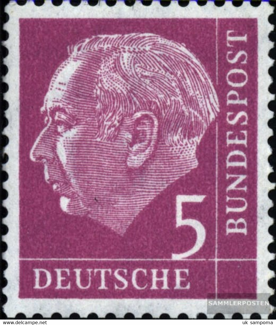 FRD (FR.Germany) 179x W R With Counting Number Smooth Gumming Unmounted Mint / Never Hinged 1954 Heuss - [7] Federal Republic