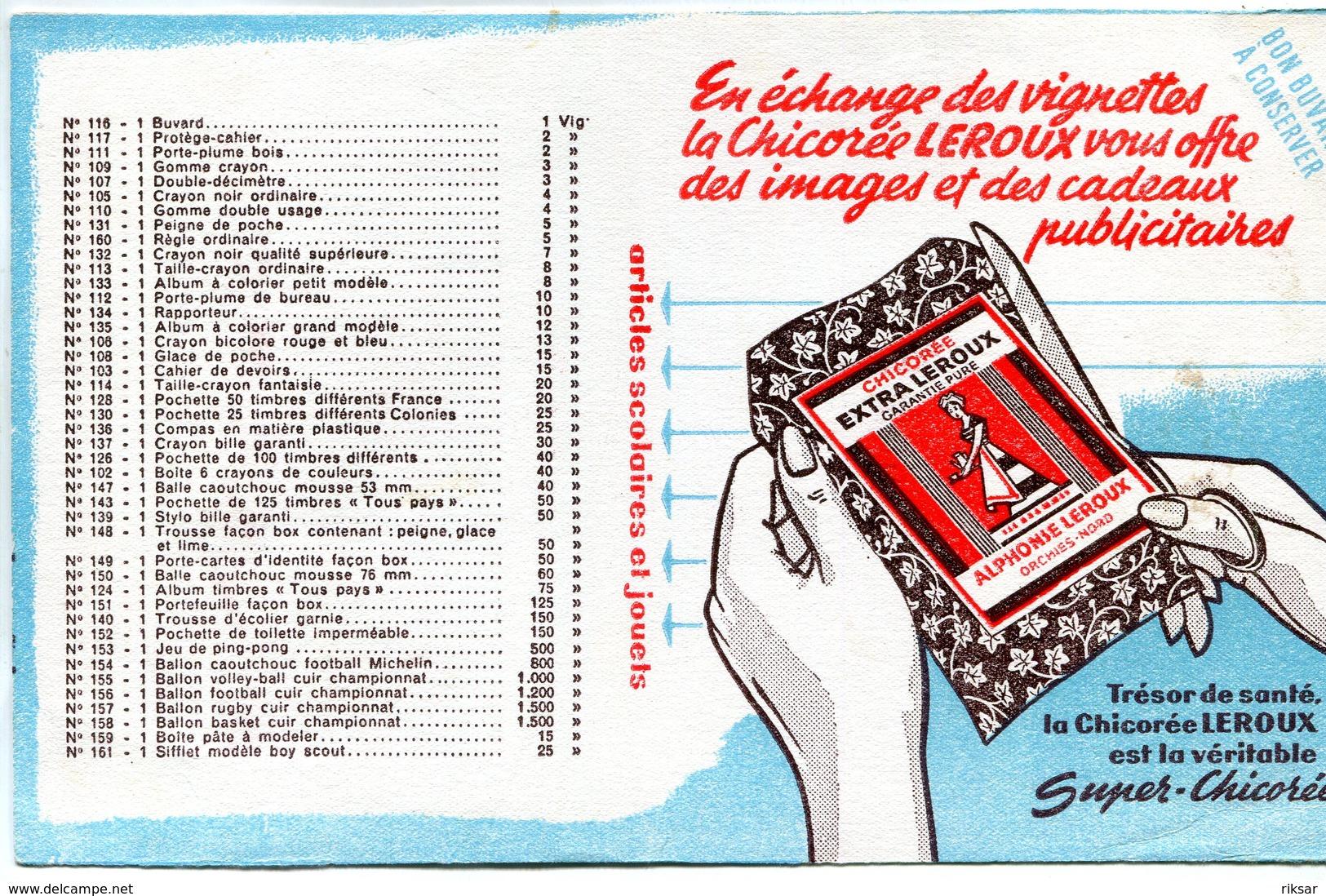 BUVARD(CHICOREE LEROUX) - Buvards, Protège-cahiers Illustrés