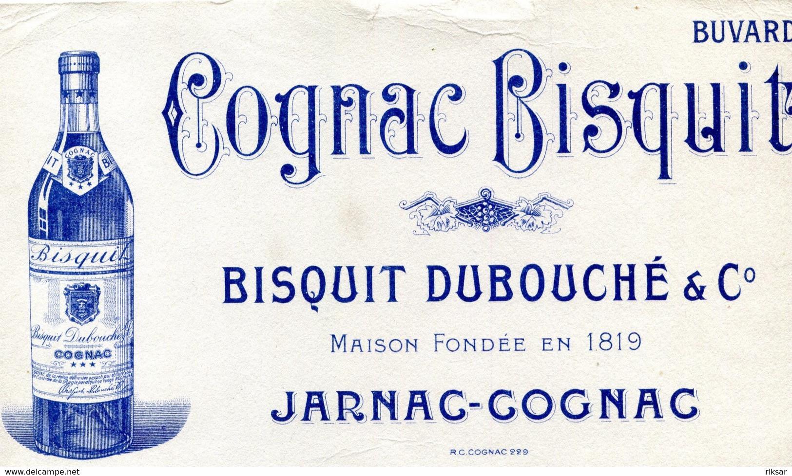 BUVARD(COGNAC BISQUIT) JARNAC - Buvards, Protège-cahiers Illustrés