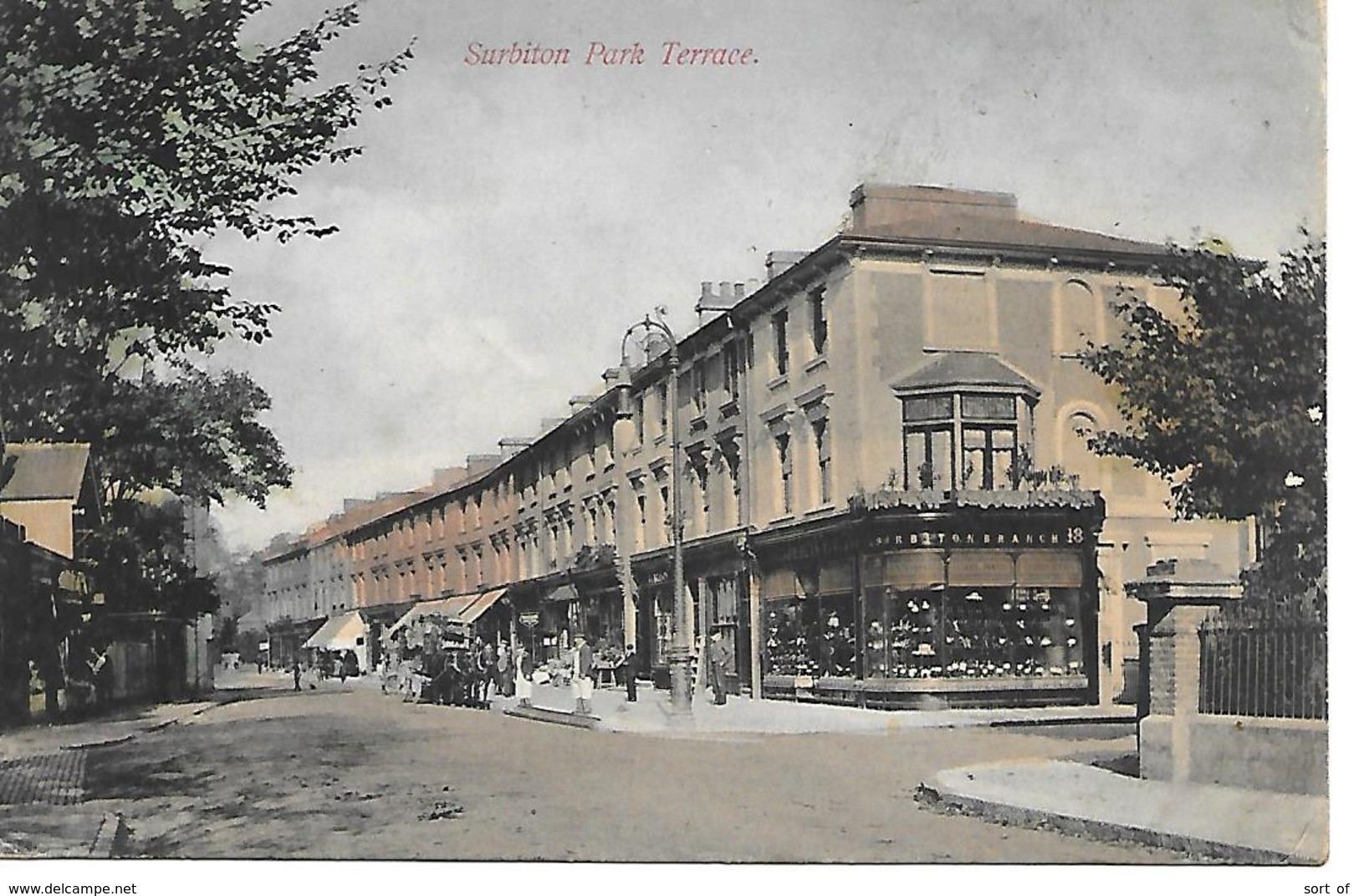 SURBITON - PARK TERRACE (NICE POSTMARK) - B15 - Surrey