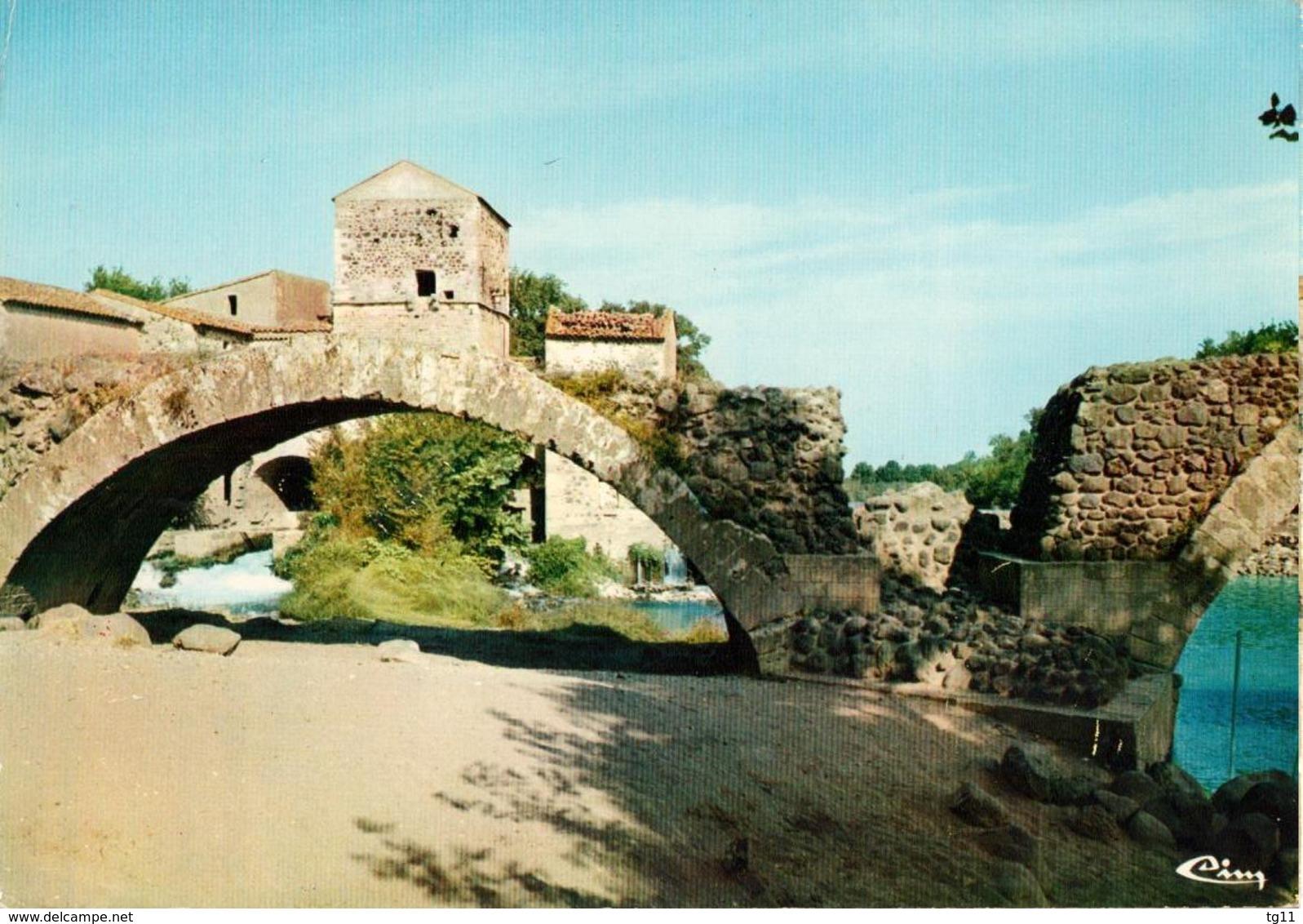 34 - SAINT THIBERY - LE PONT ROMAIN AVEC LE VIEUX MOULIN - Sonstige Gemeinden