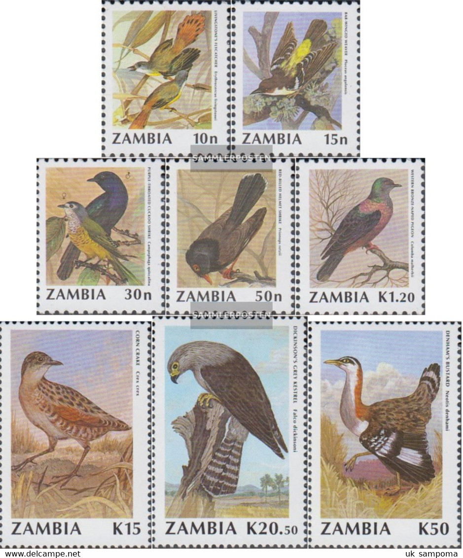 Sambia 528-535 (complete Issue) Unmounted Mint / Never Hinged 1990 Birds - Zambia (1965-...)