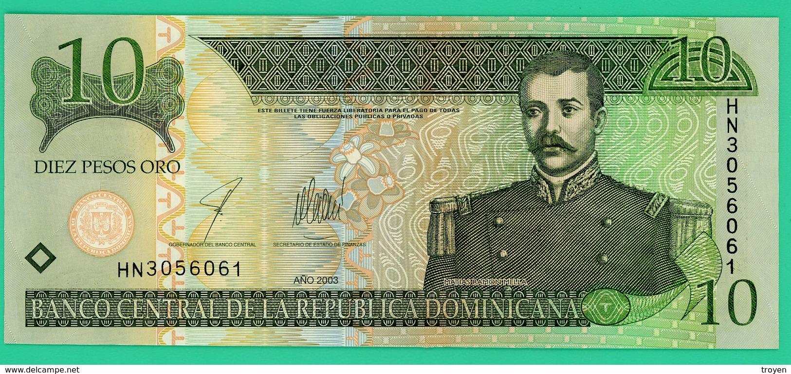 10 Pesos - République Dominicaine - 2003 - N° HN3056061 - Neuf - - Dominicaine