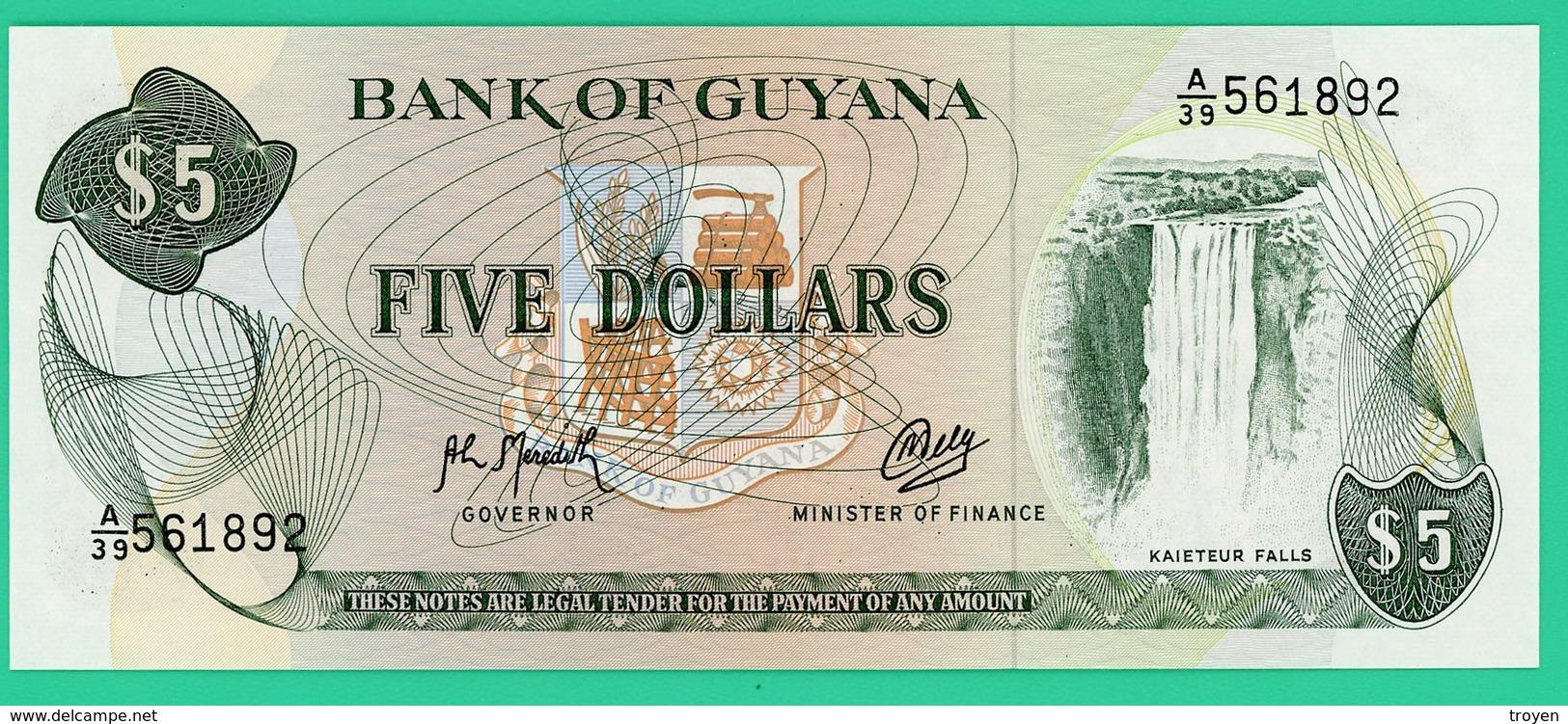 5 Dollars - Guyana - 1966 - N° A/39 561892 -  Neuf - - Guyana