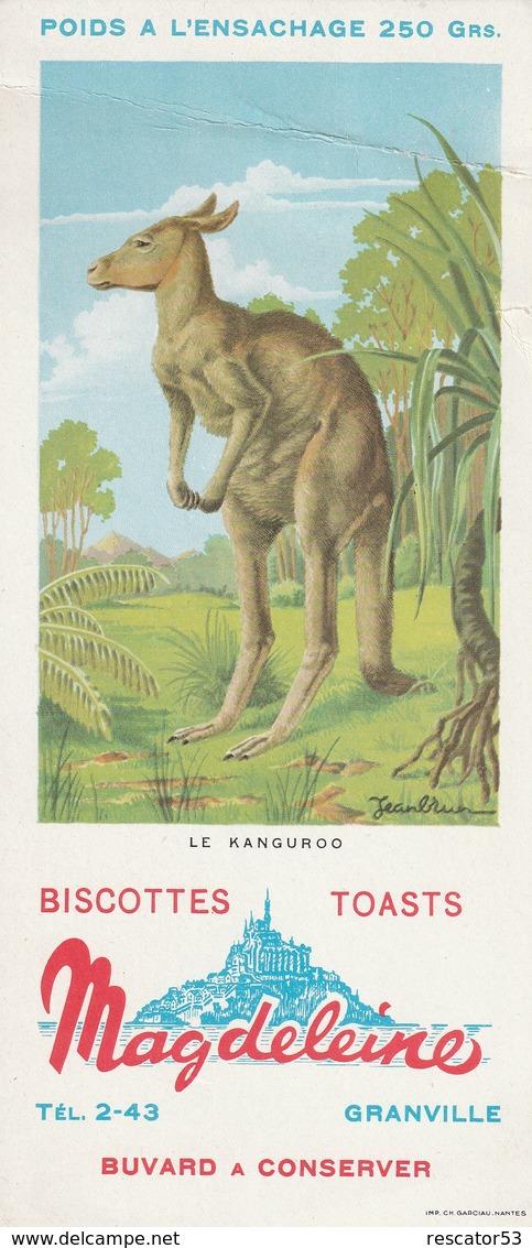 Rare Buvard Biscottes Magdeleine Le Kanguroo - Biscottes