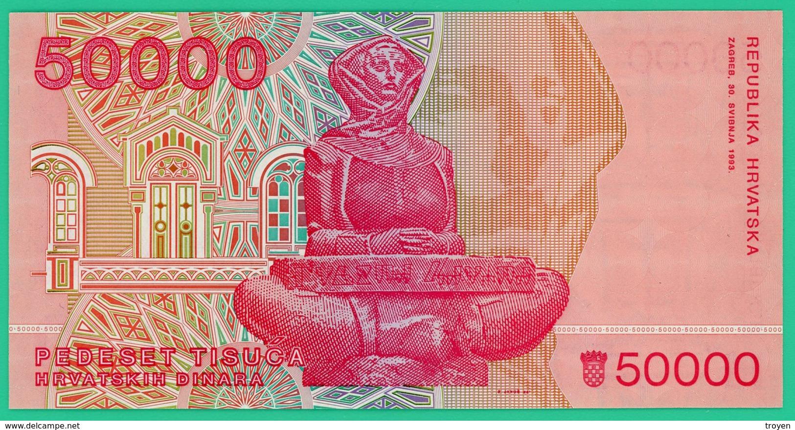 50 000 Dinar - Croatie - Hanatska - 1993 - N° D9034275 - Neuf - - Croatie