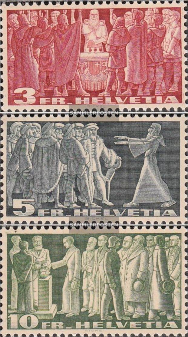 Schweiz 328v-330v (completa Edizione) Gray Libro Usato 1938 Francobolli - Usados