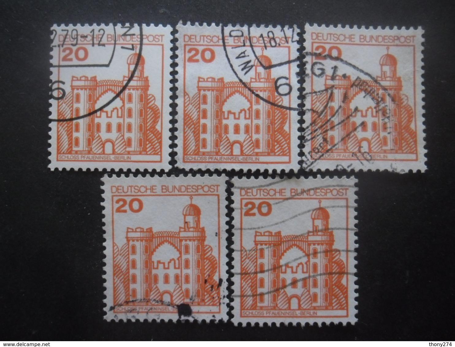 ALLEMAGNE FEDERALE N°842 X 5 Oblitéré - Vrac (max 999 Timbres)