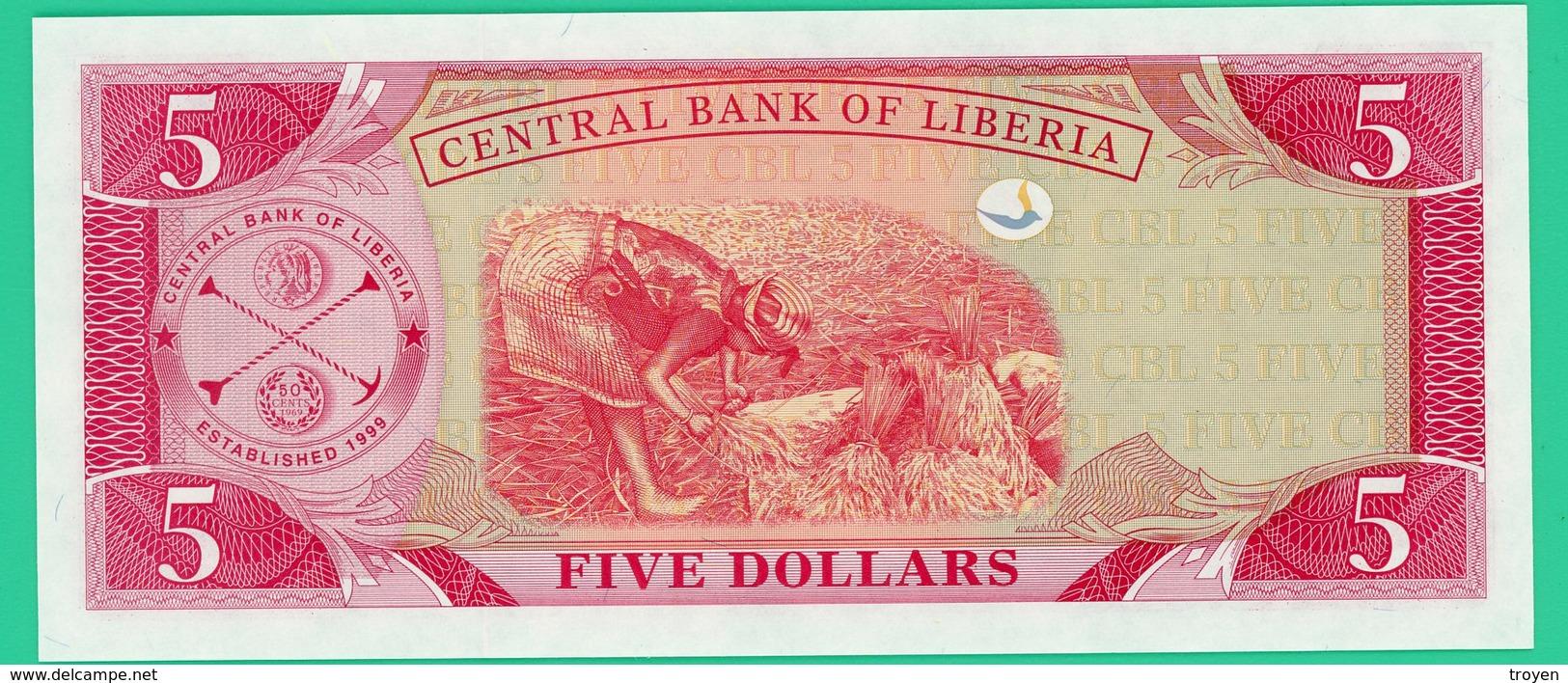 5 Dollars - Liberia - 2003 -  N° AJ316091 -   Neuf - Liberia