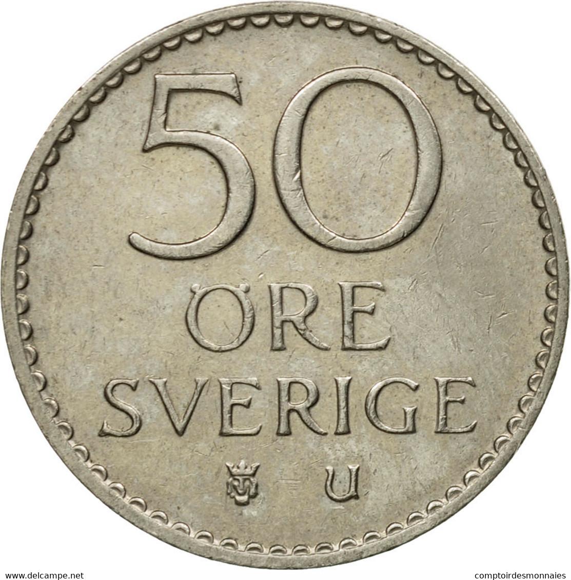 Monnaie, Suède, Gustaf VI, 50 Öre, 1973, TB+, Copper-nickel, KM:837 - Suède