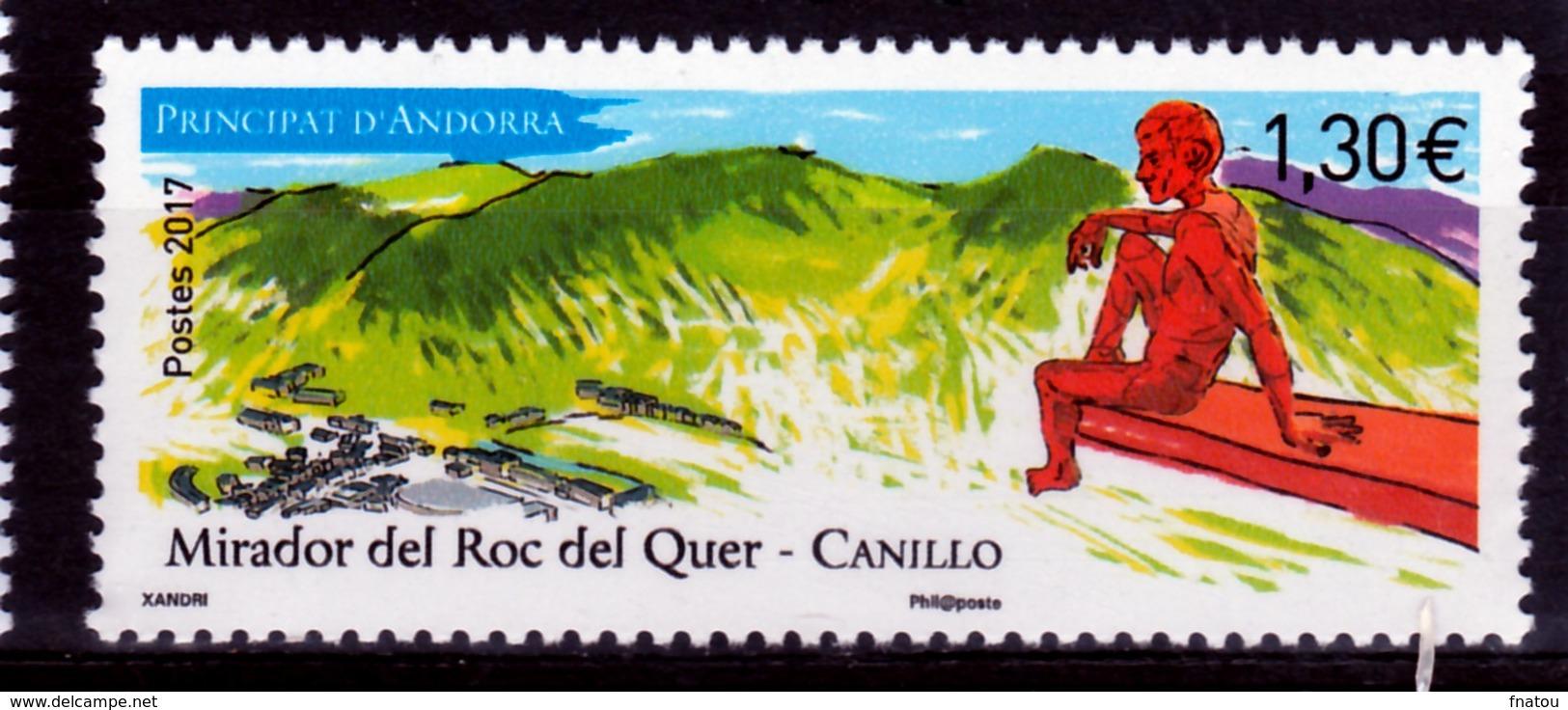 Andorra (French Adm.), Mirador Roc Del Quer, Canillo, 2017, MNH VF - Unused Stamps