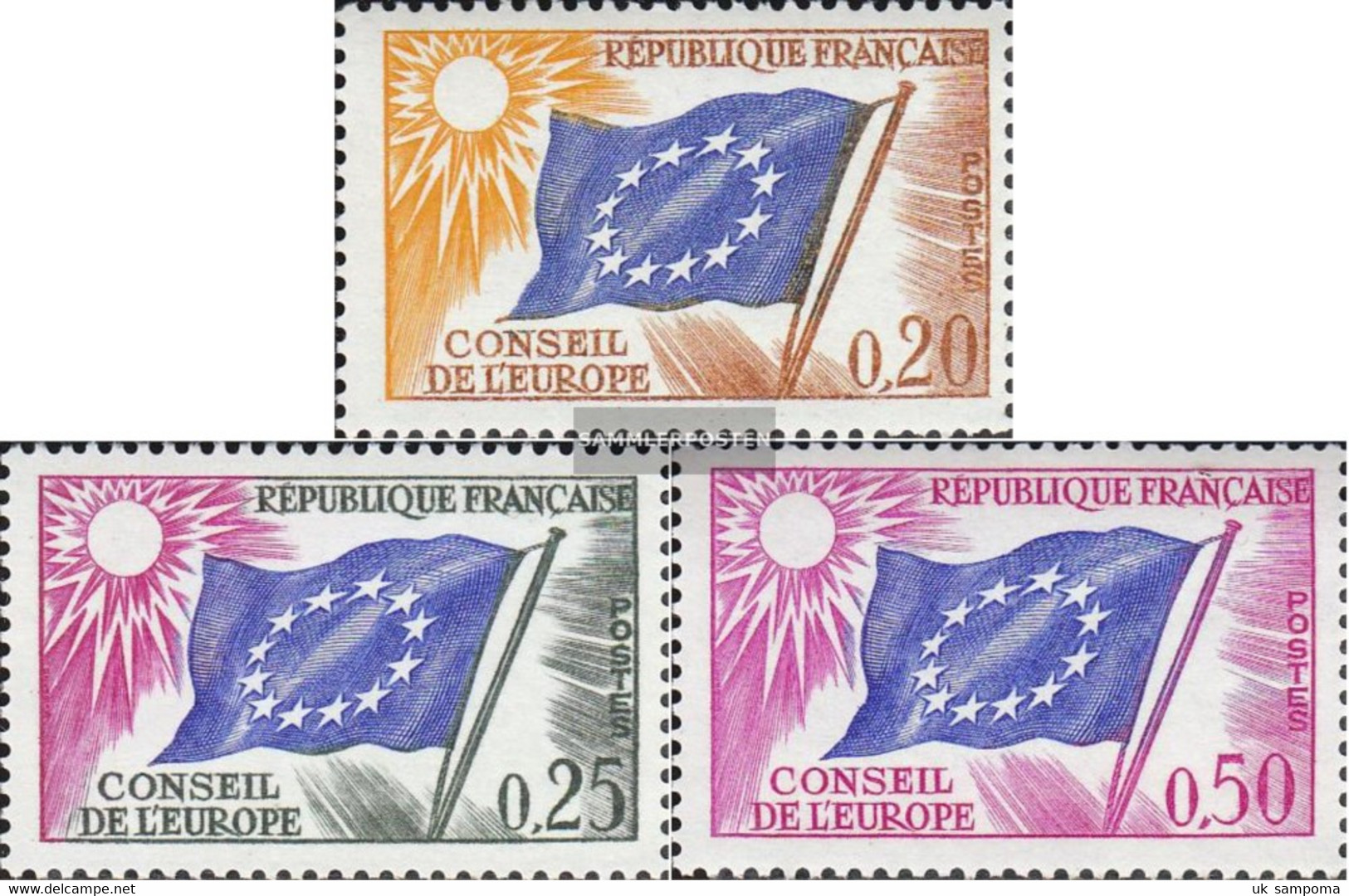 France DA7-DA9 (complete Issue) Unmounted Mint / Never Hinged 1963 Europe Flag - Neufs