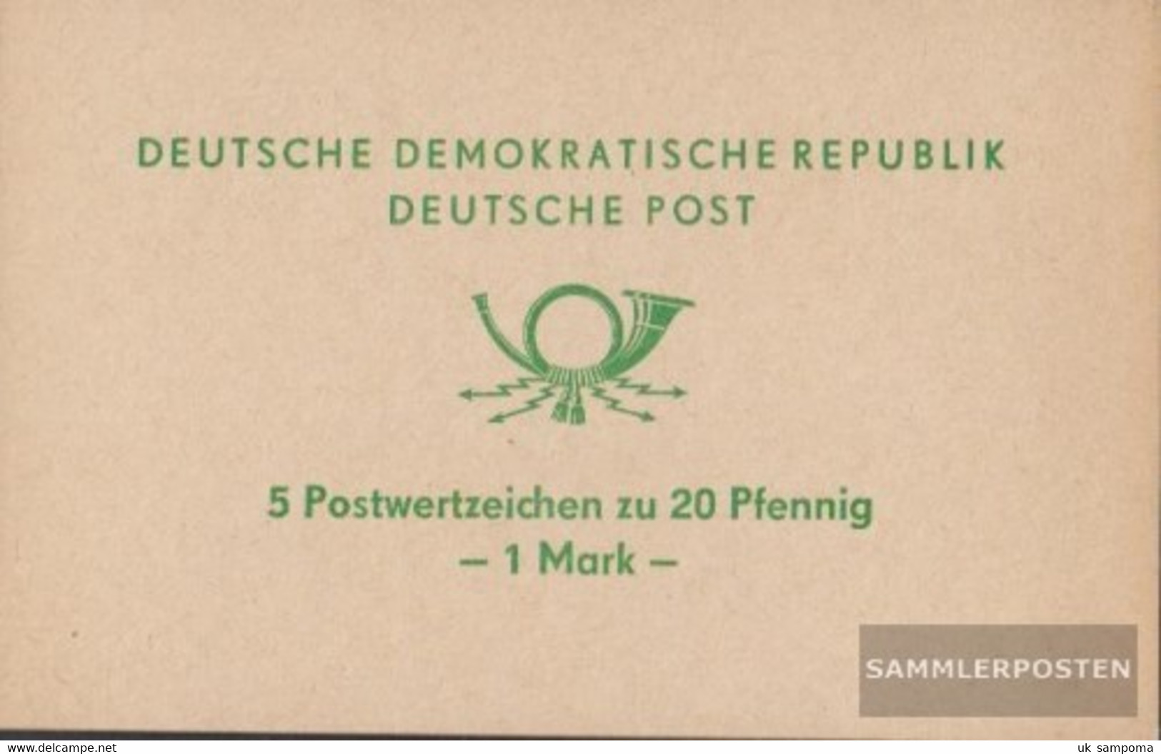 DDR SMHD2b (complete Issue) Unmounted Mint / Never Hinged 1971 Horn - [6] Democratic Republic