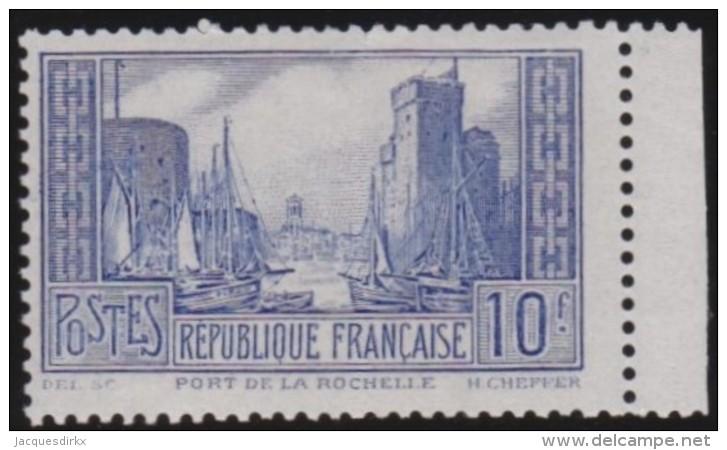 France    .      Y&T    .       261b      .        *    .    Trace De Charniere Tres Legere - France