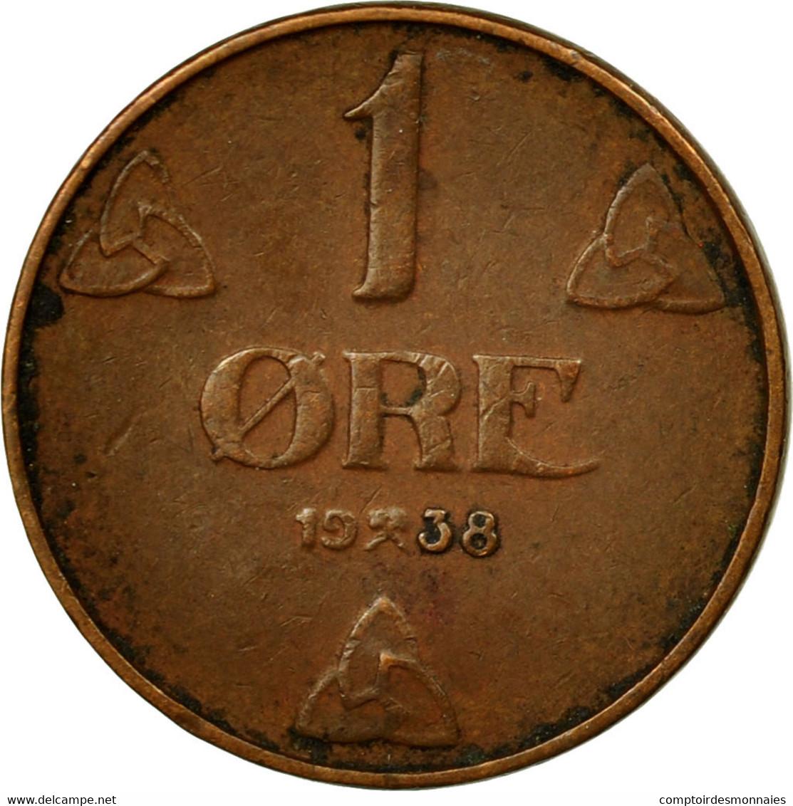 Monnaie, Norvège, Haakon VII, Ore, 1938, TB, Bronze, KM:367 - Norvège