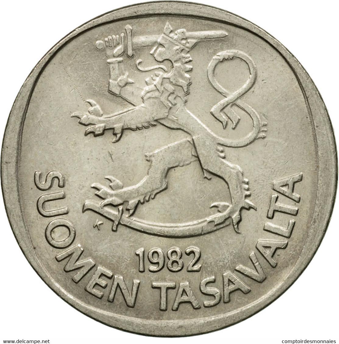 Monnaie, Finlande, Markka, 1982, TTB+, Copper-nickel, KM:49a - Finlande