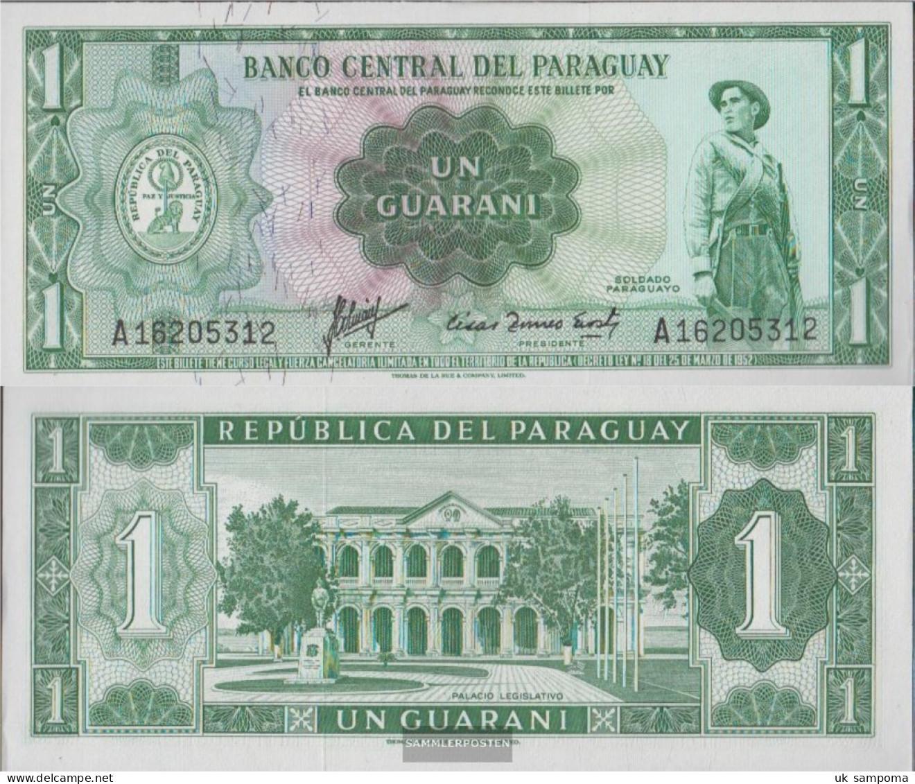 Paraguay Pick-number: 193a Uncirculated 1952 1 Guarani - Paraguay