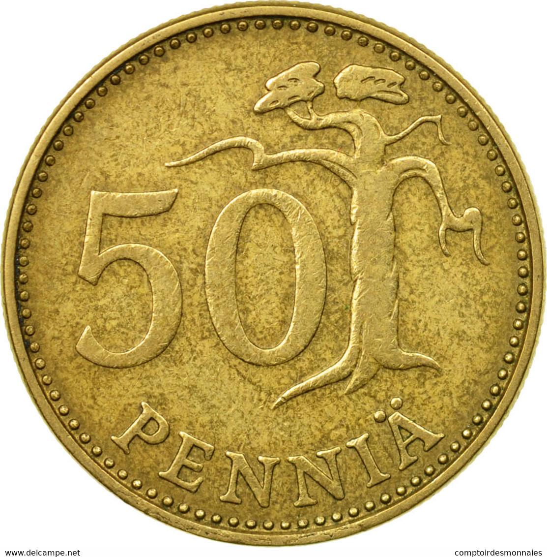 Monnaie, Finlande, 50 Penniä, 1972, TB+, Aluminum-Bronze, KM:48 - Finlande