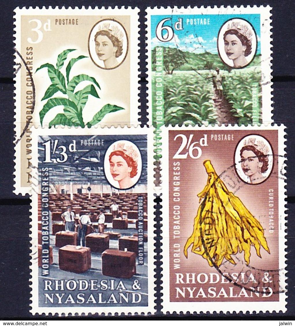 RHODESIE NYASSALAND 1963 YT N° 44 à 46 Obl. - Rhodesia & Nyasaland (1954-1963)