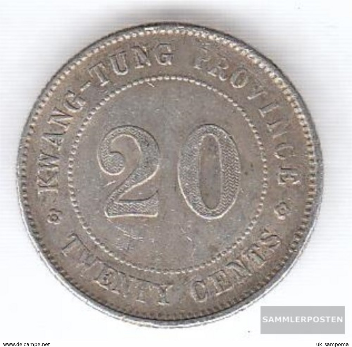 Kwangtung 423 8 Very Fine Silver Very Fine 8 20 Cents Characters - China