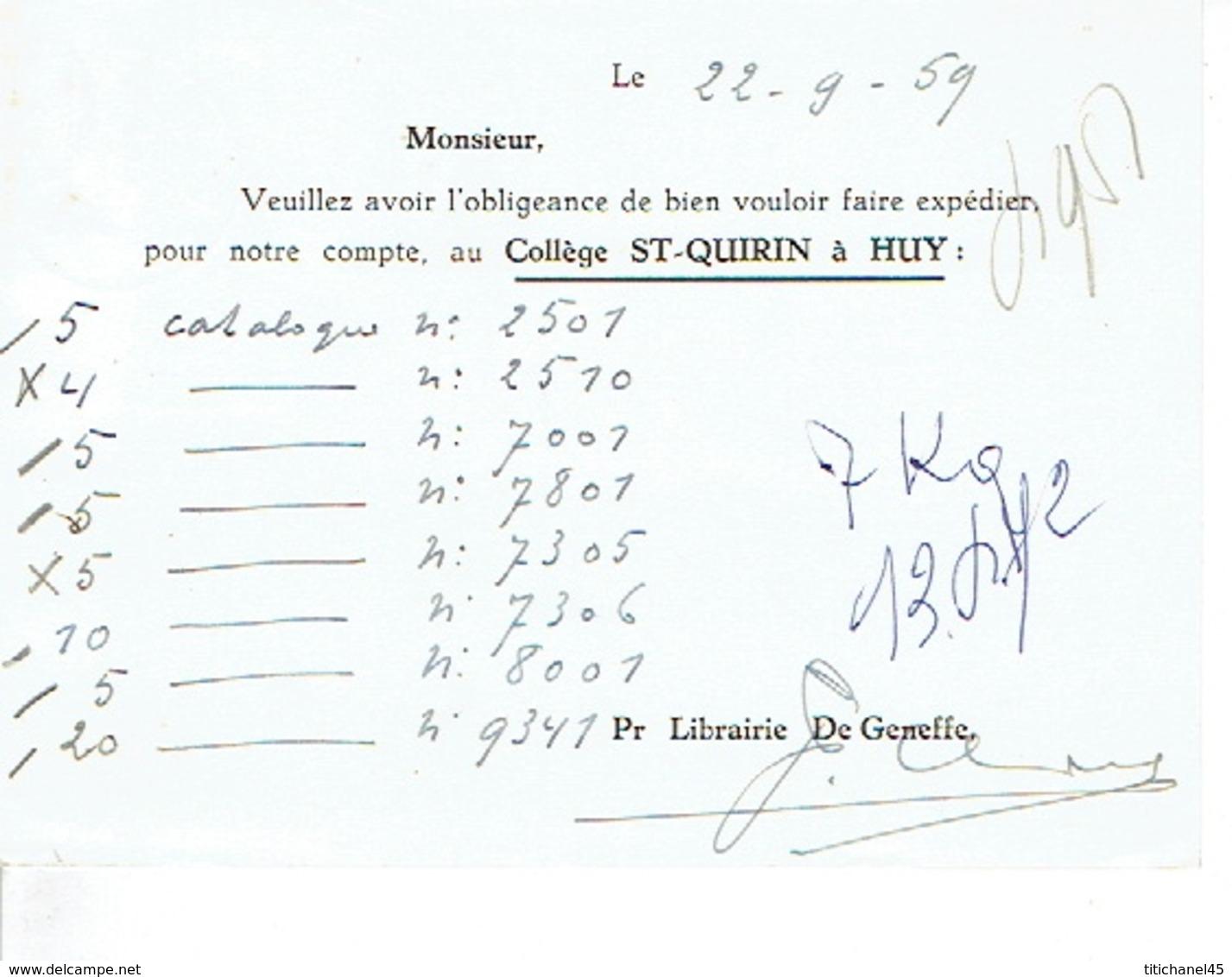 PK Publicitaire SINT-TRUIDEN 1959 -  DRUKKERIJ DEGENEFFE - Sint-Truiden