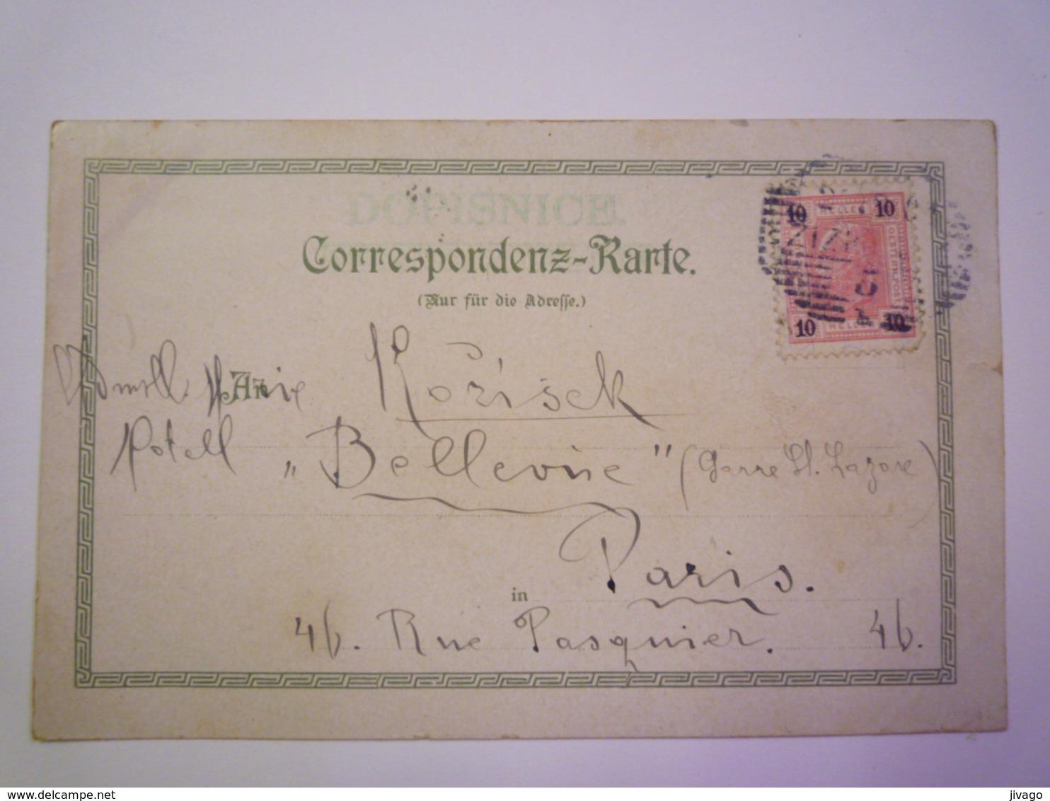 TCHEQUIE  -  PRAHA  :  STAROMESTSKA RADNICE  -  Carte Couleur  1901  X - Czech Republic