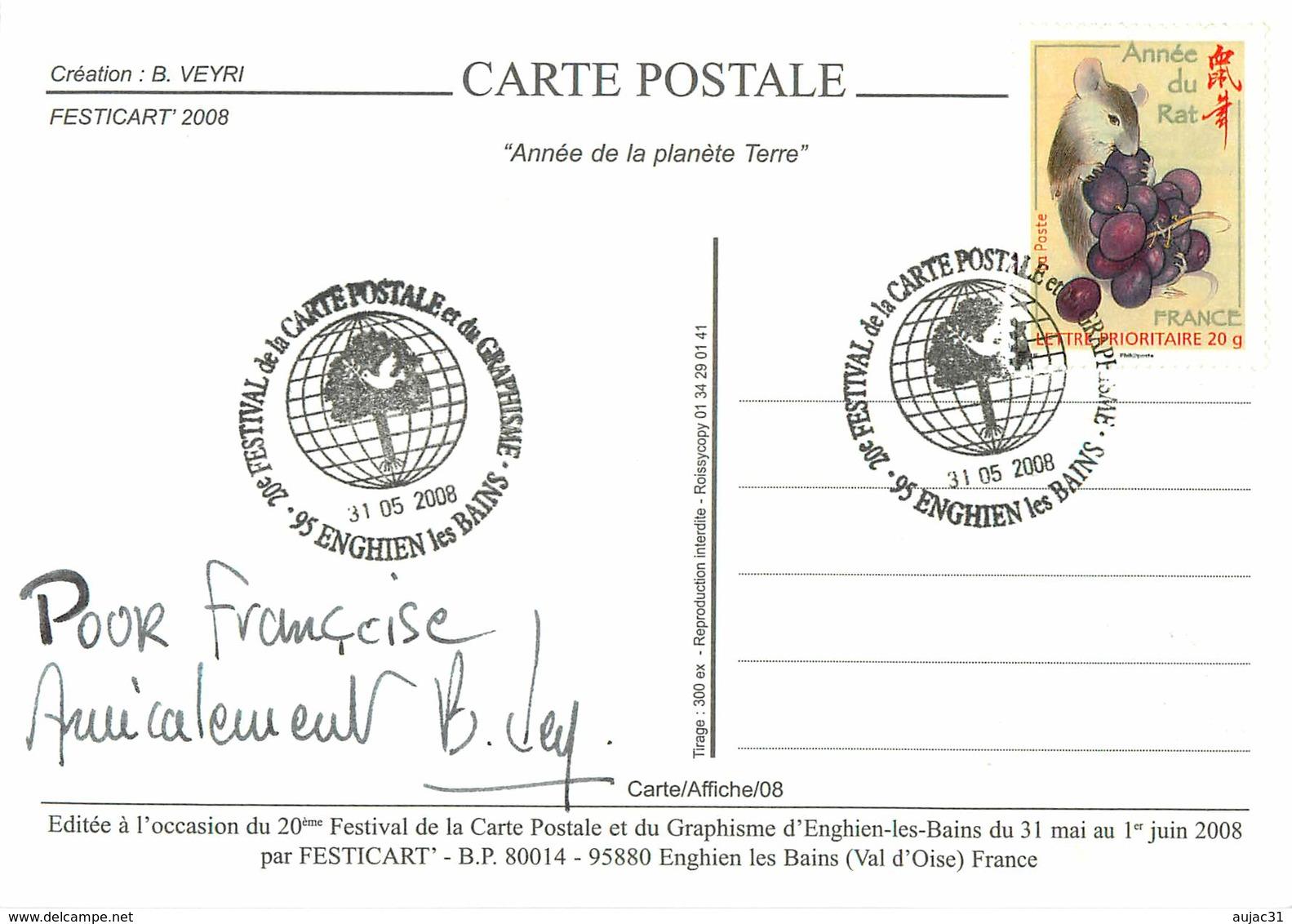 IIlustrateur Bernard Veyri - Enghien Les Bains - Animaux - Eléphants - Renards - Ours Blancs - Autographe - Signature - Veyri, Bernard