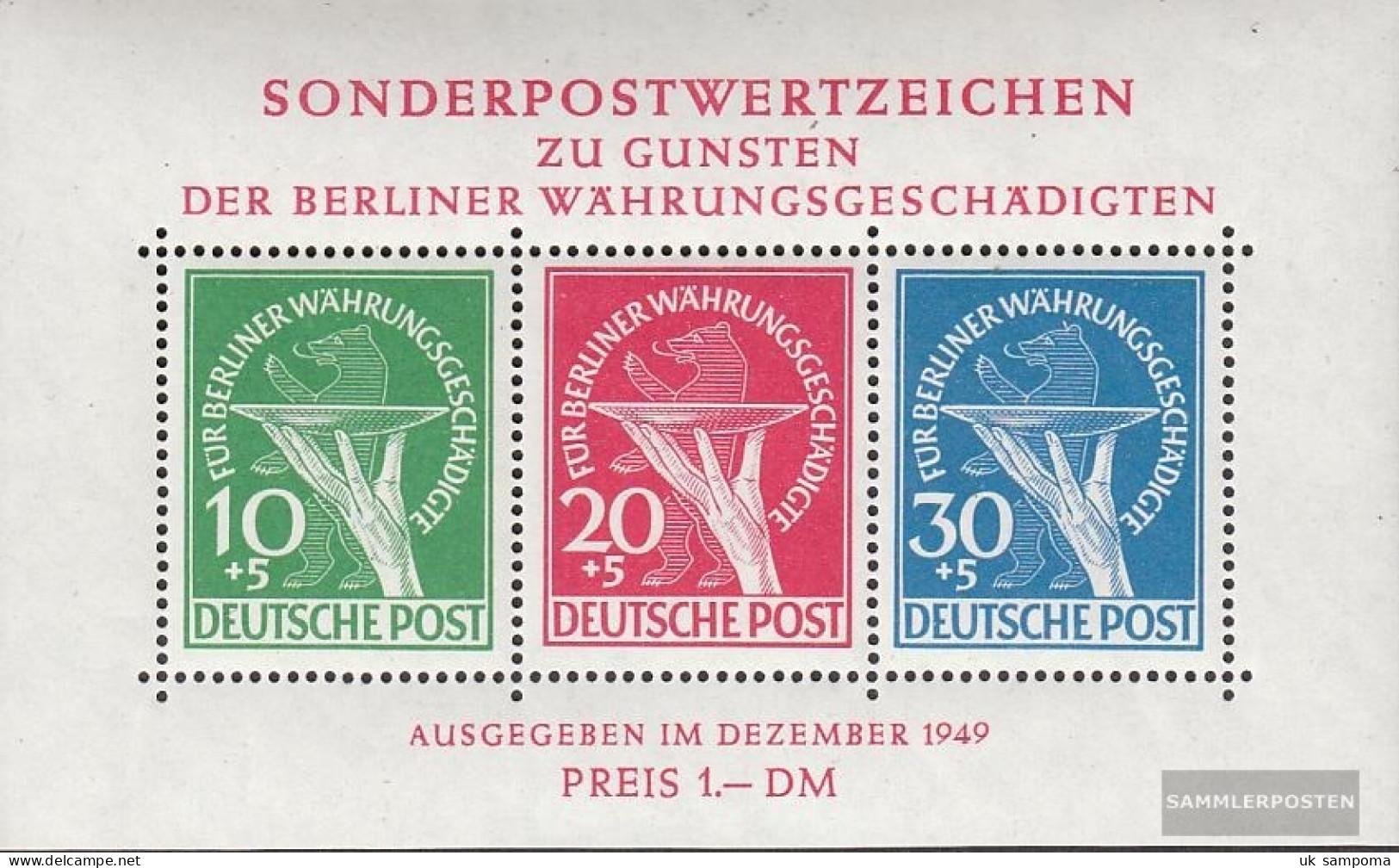 Berlin (West) Block1 Tested (complete Issue) Unmounted Mint / Never Hinged 1949 Währungsgeschädigte - [5] Berlin